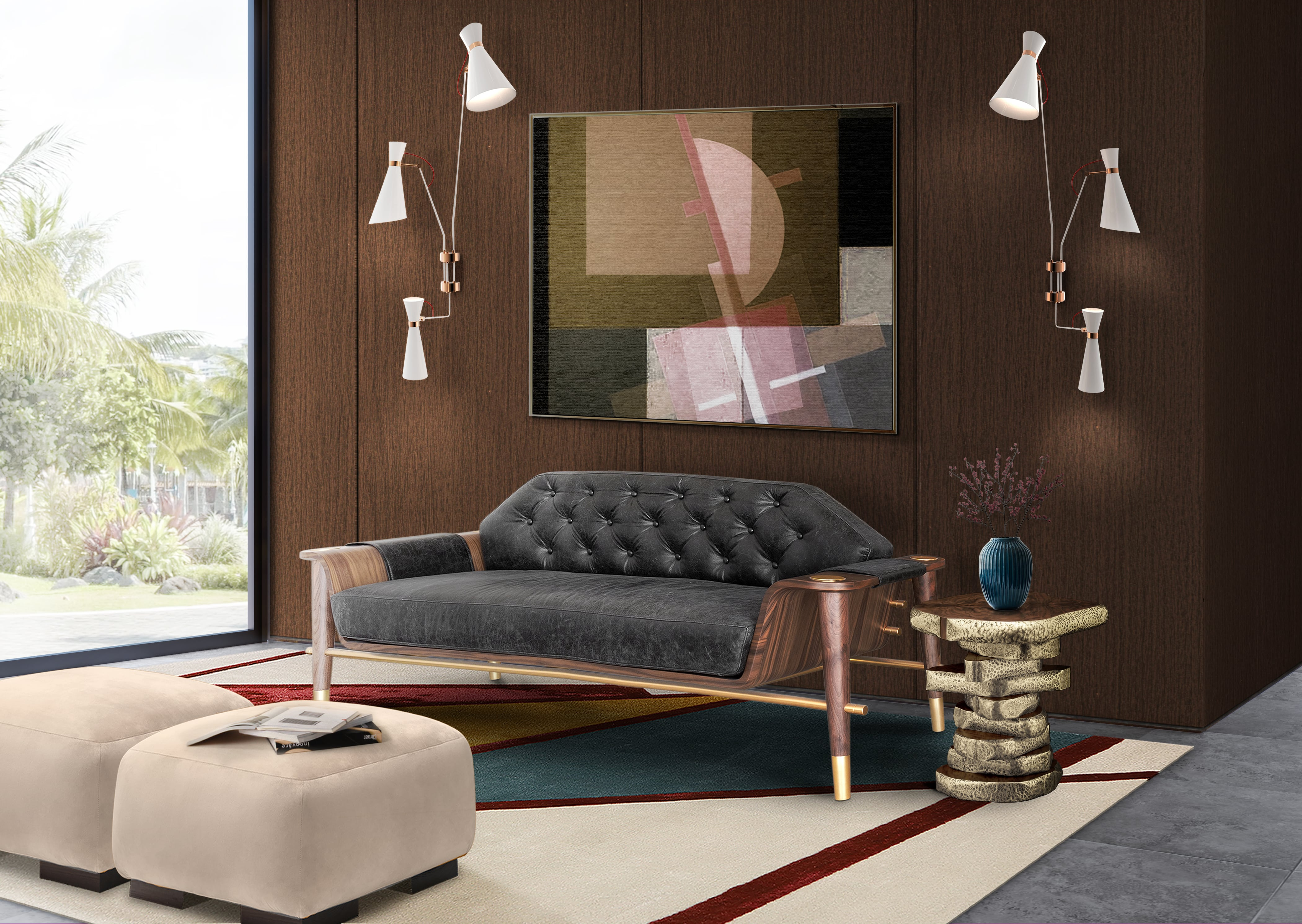 Rug'Society Eclectic BAUHAU Living Room by Rug'Society