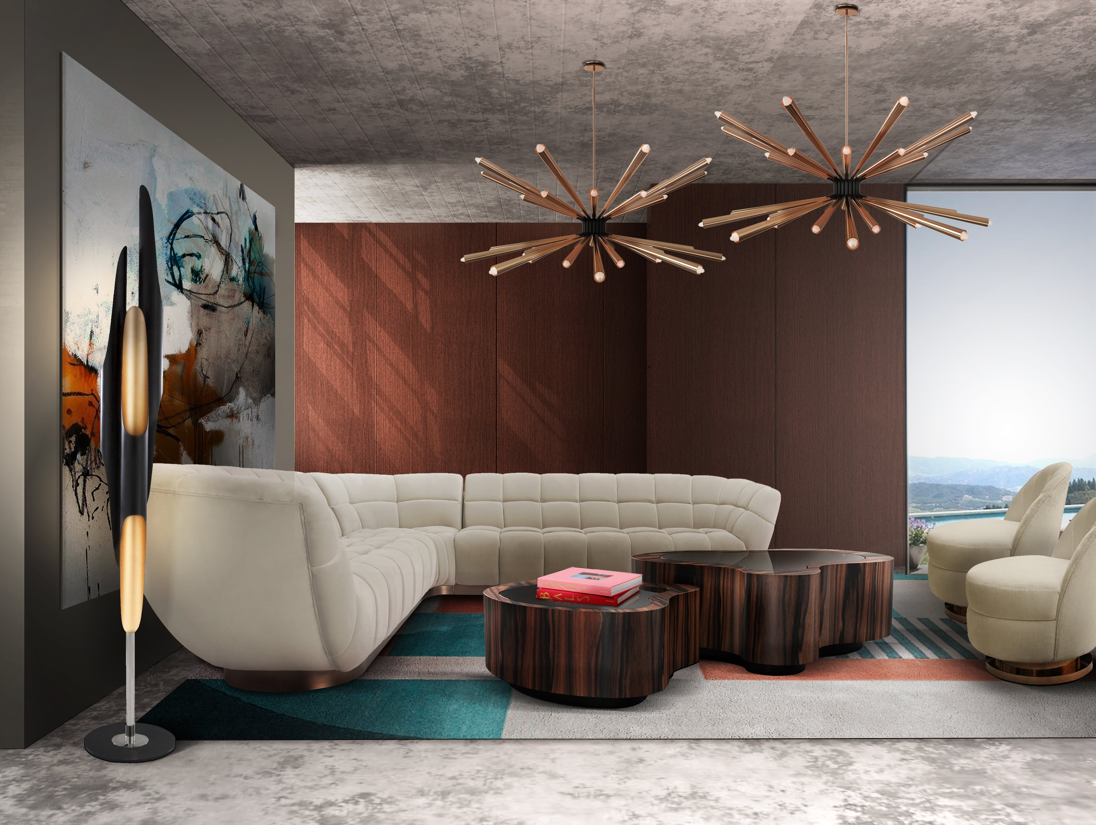 Rug'Society Geometric PRISMA II Rug Living Room by Rug'Society