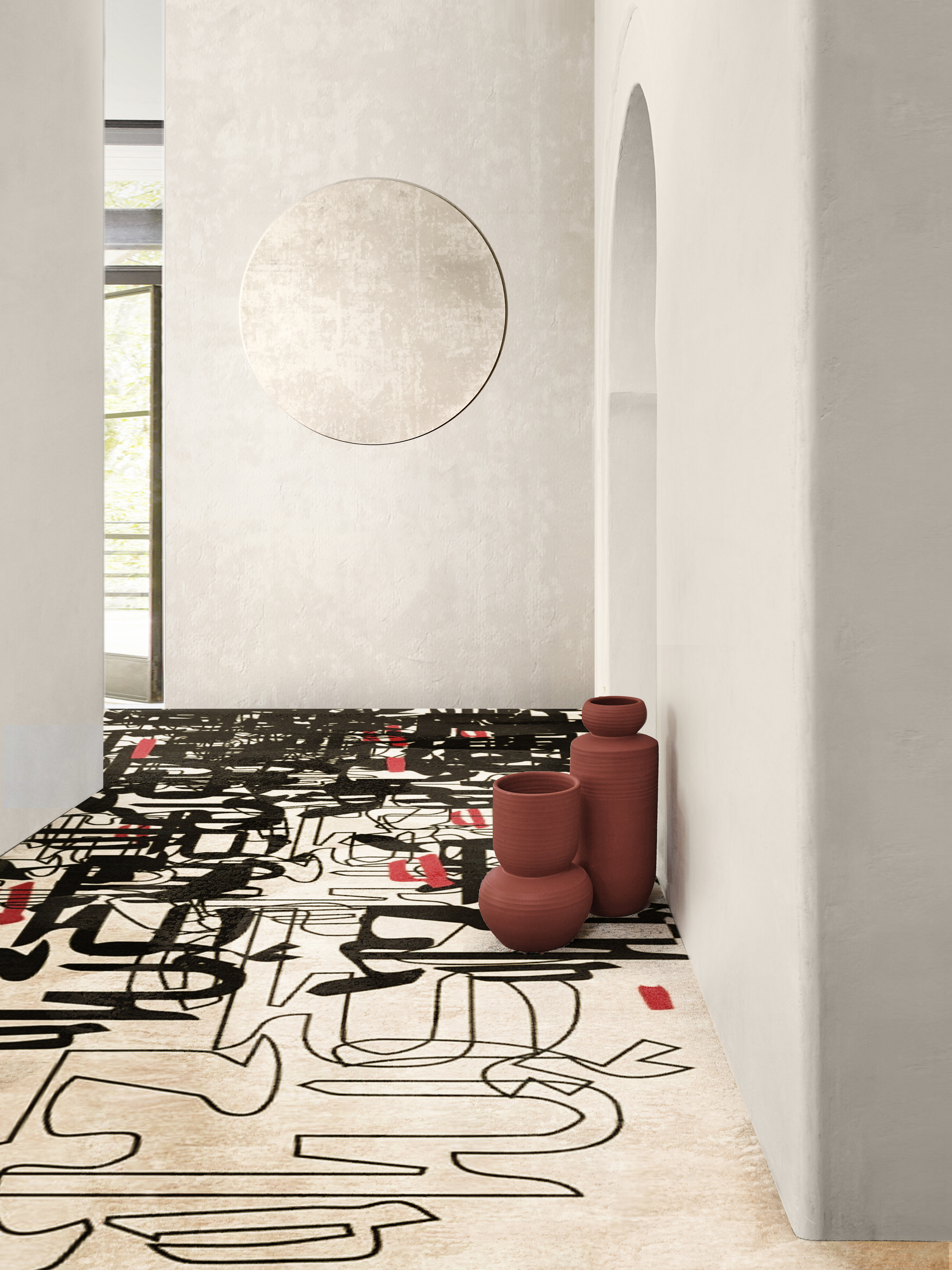 Rug'Society Living Room Inspiration with OSLO Rug by Rug'Society