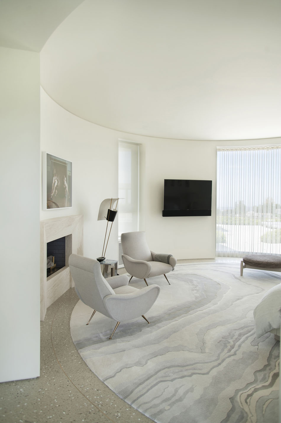 A Large Rug In Trousdale Estates Contemporary Home, Photo Courtesy Of  Dennis Gibbens Architects. This Kind Of Marble Rug Design Is The Perfect  Addition For ...