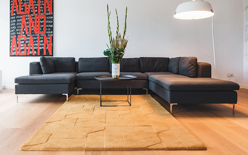 A neutral but unique rug selection from 20 Berlim Interior Designers