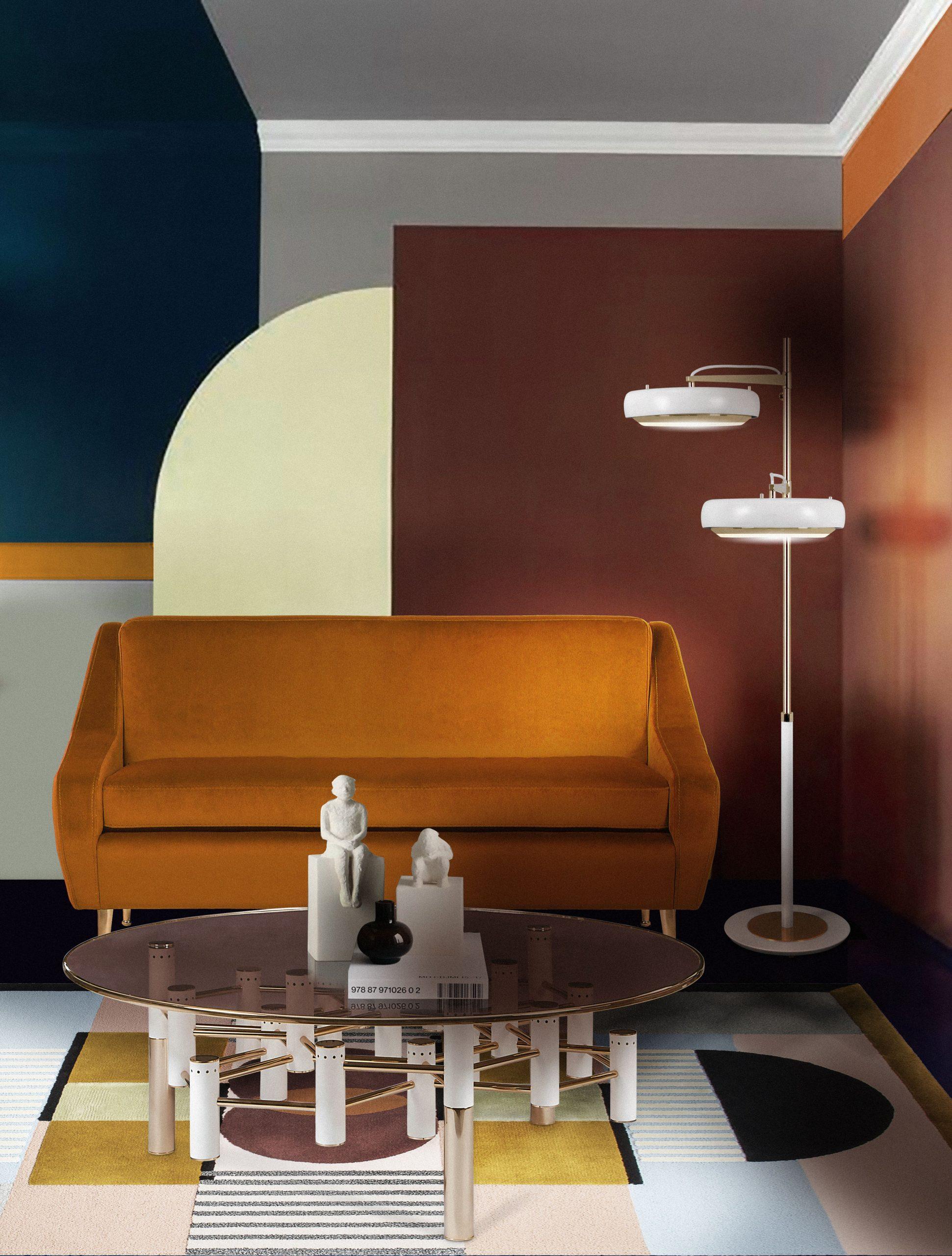 5 mid-century modern rug ideas - Living Room With Isaac Rug