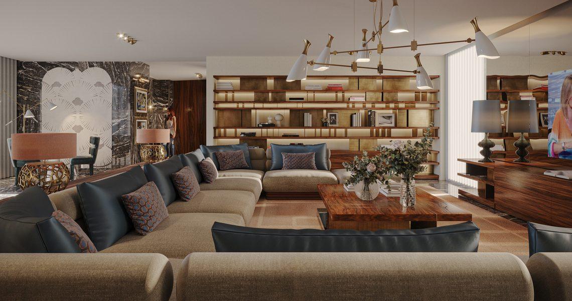 En Pleurs Living Room: Enjoy The Tenderness Of Living Room Rugs