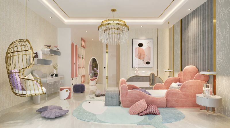 Contemporary Bedroom Rugs For Kids And Grownups,  pastel colors with a gray round rug with whales as a design