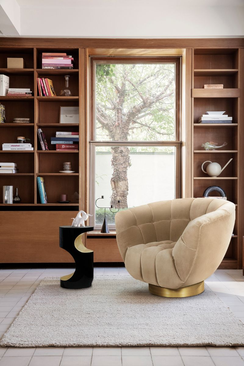 Rug's Inspirations For a Fantastic Home Interior Design. Modern contemporary reading corner in beige