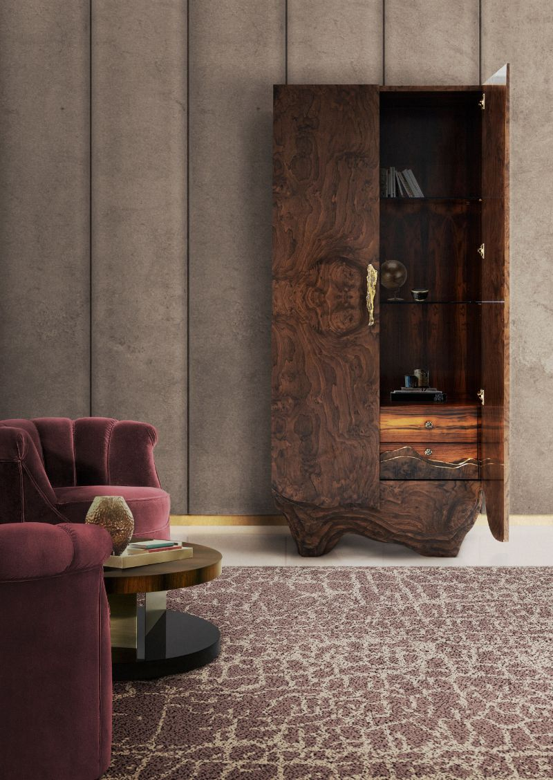Rug's Inspirations For a Fantastic Home Interior Design. Rustic contemporary reading corner. Brown rectangular area rug.