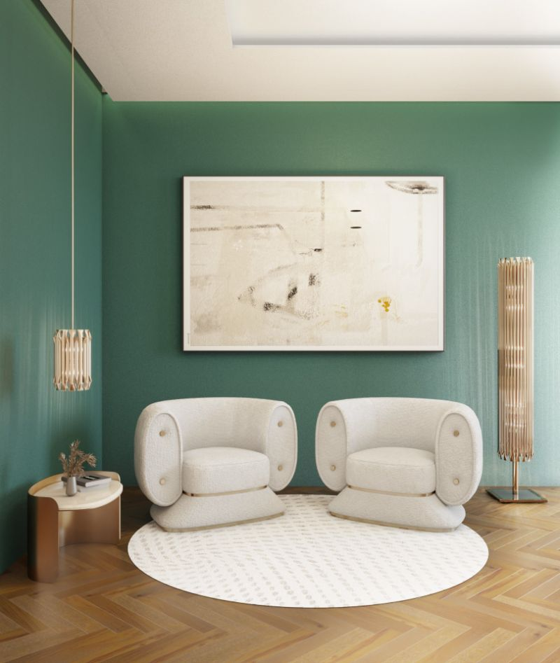 Rug's Inspirations For a Fantastic Home Interior Design. White reading corner with a white round rug.