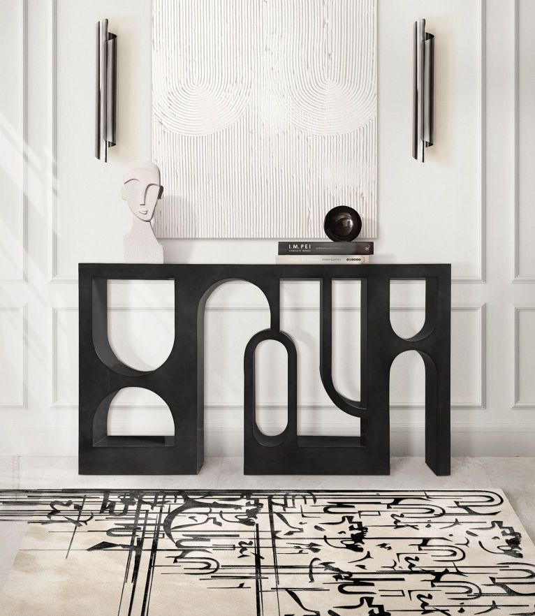 Black Ink Rug by Rug'Society