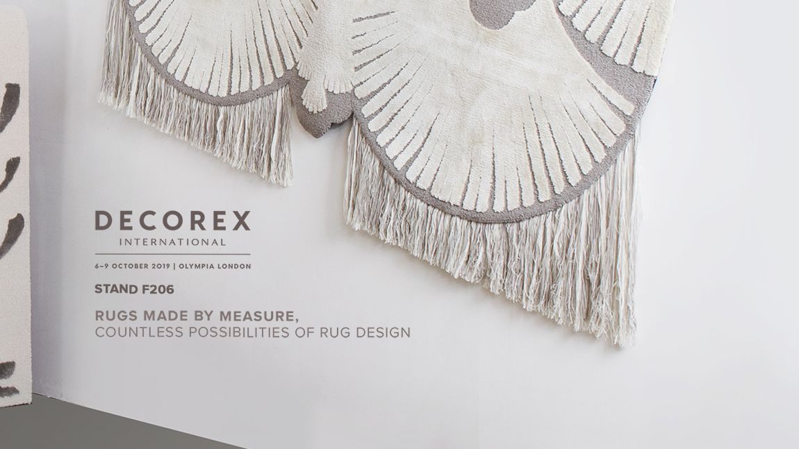 Decorex International - 6-9 October 2019 - Olympia London - Rugs Made by Measure, Countless Possibilities of Rug Design
